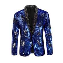 Load image into Gallery viewer, Men's Sport Coat Slim Fit Notched Lapel Sequins Dance Party Blazer Jacket - kats closet1