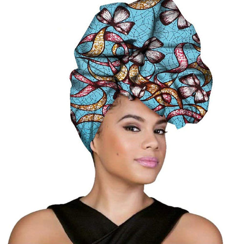 African Headwraps For Women Head Scarf For Lady Hight Quality Cotton Women Head wraps Accessories - kats closet1