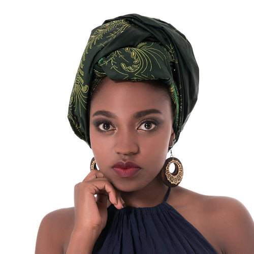 African Traditional Print Head wrap Scarf Tie, Multi -Color - kats closet1