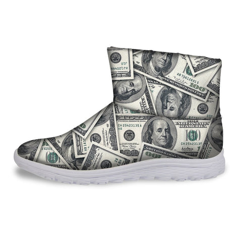 Fashion Money Style Short Ankle Warm Winter Boots for Women