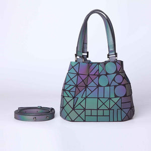 Trendy Reflective Geometric  Holographic Luminous Tote Bag