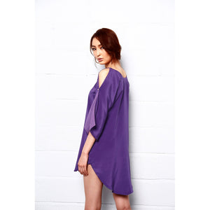 Royal Shine Silk Tunic Dress - kats closet1