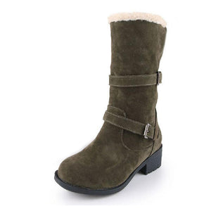 TAOFFEN ladies falt ankle boots women vintage snow half short botas warm winter boot cotton footwear shoes P20415 size 34-43 - kats closet1