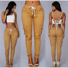 Load image into Gallery viewer, Waist Drawstring Fashion Pocket Casual High Waist Long Pants - kats closet1