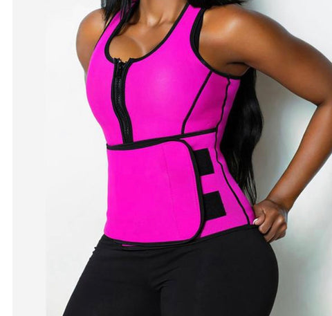 Slimming Waist Trainer Hot Shaper Workout Shapewear Adjustable Sweat Belt Corset Sauna Vest