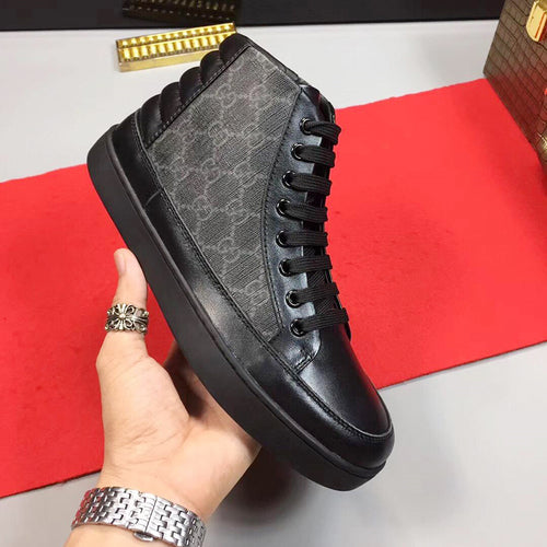 Mens Shoes Footwear Lace Up Fashion Sports Walking  High Top Sneakers