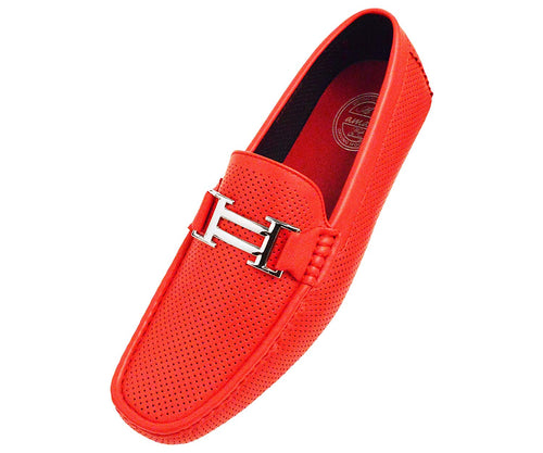 Men's Smooth and Perforated Driving Moccasin Casual Loafers