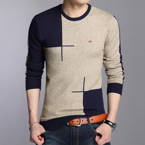 Wholesale- High quality free shipping 2016 brand sweater Eden park men round collar stitching cotton pure color pullovers SIZE M - XXL - kats closet1