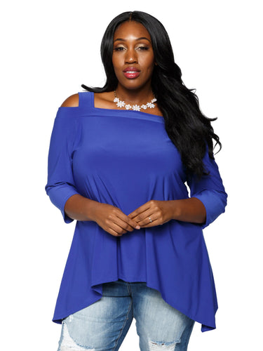 Xehar Women's Plus Size Sexy Asymmetrical Trapeze Tunic Blouse TopXehar Women's Plus Size Sexy Asymmetrical Trapeze Tunic Blouse Top - kats closet1