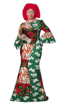 Load image into Gallery viewer, Long Sleeve African Maxi Long Dress - kats closet1