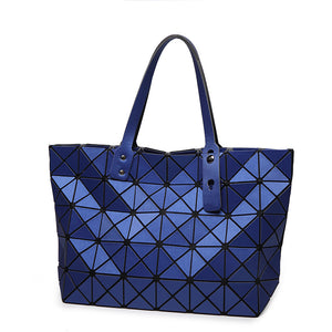 Geometric Plaid  Casual Tote Handbag