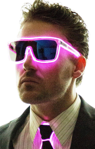 Neon Nightlife Tinted Single Lens Tron Style Light Up Glasses - kats closet1