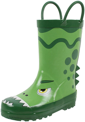 Kids Rain Boots With Easy on Handles, Fun Prints,Waterproof,Unisex Boots,Toddlers - kats closet1