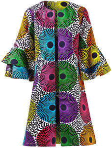 African Print Dashiki Jacket Top Dress - kats closet1