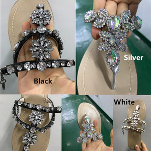 6 Colors Chains Gladiator Flat Sandals Shoes Round Toe Casual Ankle Sandals - kats closet1