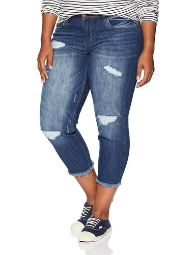 Blueberry Plus Denim Jeans - kats closet1