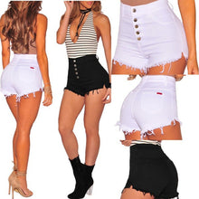 Load image into Gallery viewer, High Waist Short Mini Ripped Jeans Shorts - kats closet1