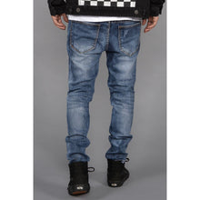 Load image into Gallery viewer, Seena Rip and Repair Tapered Jeans (Black) - kats closet1