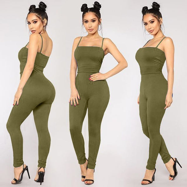 Sleeveless Solid Color Sexy Jumpsuit - kats closet1