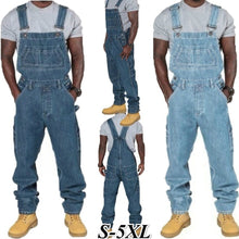 Load image into Gallery viewer, Plus Size Men's Fashion Loose Overall Jeans One Piece Jumpsuit - kats closet1