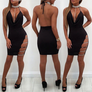 Women's Bandage Bodycon Sleeveless Evening Party Cocktail Club Short Mini Dress - kats closet1