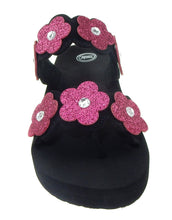 Load image into Gallery viewer, Girls flower Strap Wedge Sandals - kats closet1