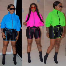 Load image into Gallery viewer, Two Piece Hoodie Top And Biker Shorts Set