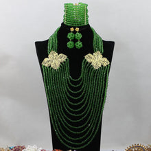 Load image into Gallery viewer, African Beads Necklace Sets For Weddings And Parties