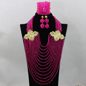 African Beads Necklace Sets For Weddings And Parties