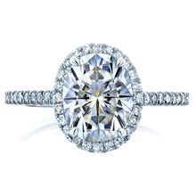 Load image into Gallery viewer, Annello by Kobelli 14k Gold 2 1/4ct TGW Moissanite and Diamond Oval Halo Engagement Ring (HI/VS, GH/I) - kats closet1