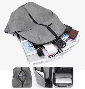 Anti theft Student Laptop USB charge College Book Bag