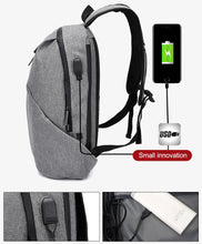 Load image into Gallery viewer, Anti theft Student Laptop USB charge College Book Bag