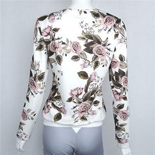 Load image into Gallery viewer, Women Ladies Biker Celebrity Camo Flower Floral Print Bomber Jacket Outwear Coat - kats closet1