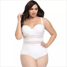 Load image into Gallery viewer, One Piece Plus Size Mesh Swimsuit - kats closet1