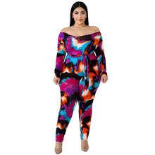 Load image into Gallery viewer, Plus Size Long Sleeve Round Neck Casual Jumpsuit Slim Fitting Jumpsuit