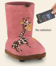 Load image into Gallery viewer, Winter Electric Plush Foot Warmer Heating Slippers