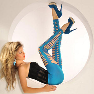 Sexy Hollow Out Leggings Women fitness legging - kats closet1