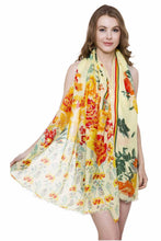 Load image into Gallery viewer, Soft Bold Floral Print Oblong Scarf