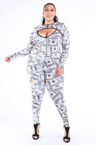 Plus Size New Money Old Money Catsuit
