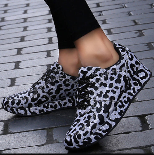Leopard Print Fashion Women Training Sneakers