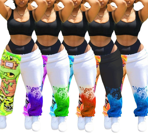 Cartoon Print Sport Jogger Sweatpants