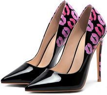 Load image into Gallery viewer, Valentine Lips Printed Heels