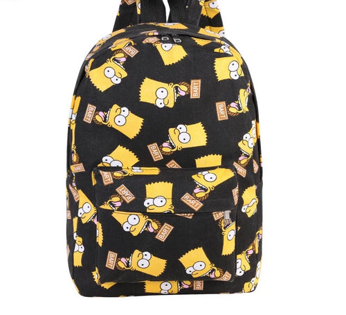 Cartoon The Simpsons Print School Backpacks