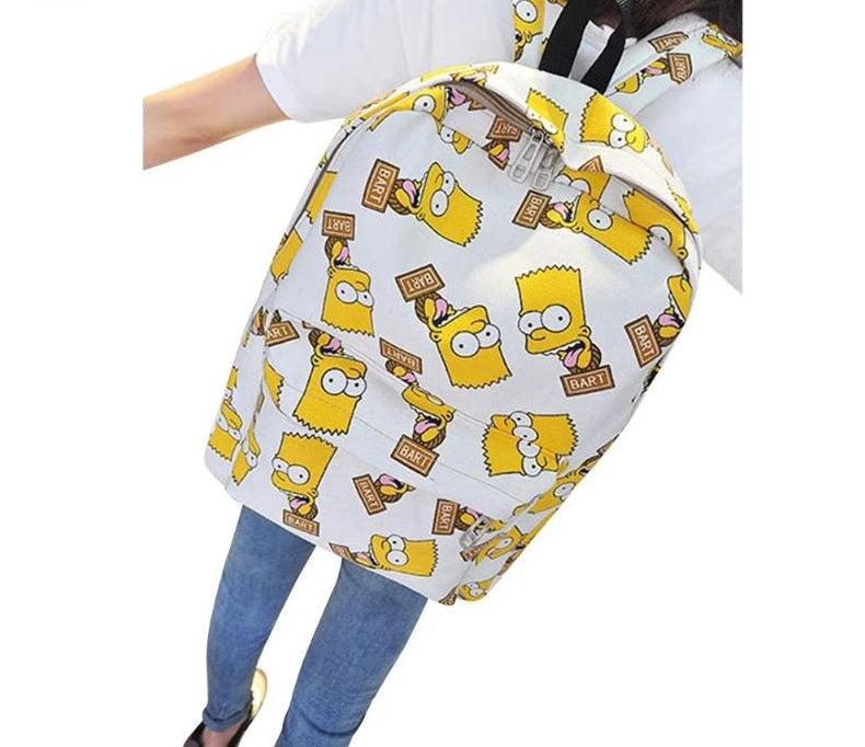 b2d30ab3bc49 Cartoon The Simpsons Print School Backpacks