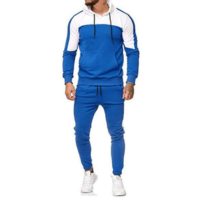 2 Piece Men Zipper Hooded And Pants Track Suit