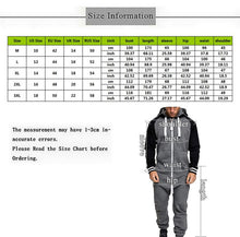 Load image into Gallery viewer, Men One-Piece Zipper Hoodie Jumpsuit Overalls