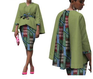African Two Piece Set Dress - kats closet1