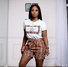 Load image into Gallery viewer, Snakeskin Print 2 Piece Shorts Set