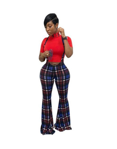 Plaid Wide Legged Long Pants - kats closet1