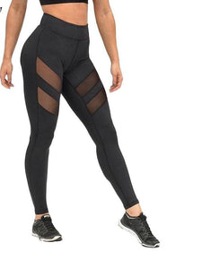 leggings for women mesh splice fitness slim black legging pants plus size - kats closet1